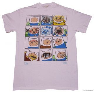 Adventure Time Many Faces of Finn Officially Licensed Shirt s XL