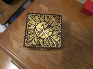 Hellraiser Complete Puzzle Box Signed by Doug Bradley