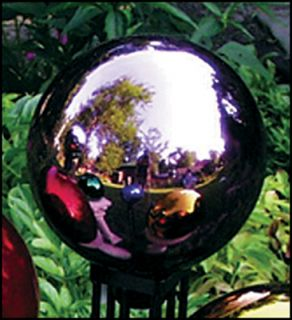 Echo Valley 4 Mauve Pink Blown Glass Garden Gazing Globe Ball RSR8403