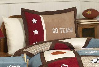 JoJo Designs All Star Sports Twin 4pc Childrens Kids Boy Bedding Set