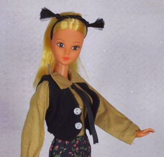 Vtg Durham Mod Charly Doll w Outfit Blonde Tnt Straight Legs Barbie