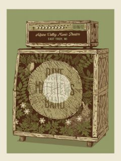 2012 Dave Matthews Band Alpine Amp East Troy 12 Concert Poster 7 6 Wi