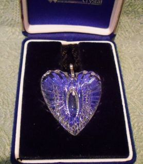 Waterford Crystal Heart Pendant Necklace