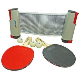 Table Tennis Ping Pong Deluxe Set Paddles Balls and Net Travel Bag