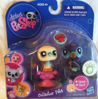 LITTLEST PET SHOP NEW BIRD Dove Toucan BIRDS LOVE #1906 #1907 Lot Set