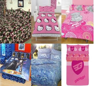 Boys or Girls Double Bed Size Duvet Cover Set Quilt Cover Set Many