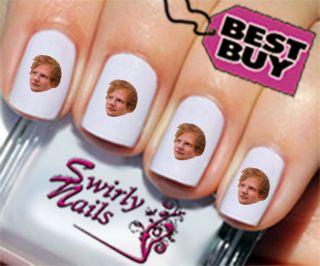 20 Ed Sheeran Nail Art Transfer Decal Stickers 51