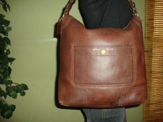 Rustic Brown Leather Coach Chelsea Hobo Shoulder Bag Purse 10948