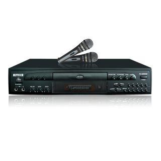 New 3 in 1 CD G DVD Karaoke Player Machine wi Dual Microphones & USB