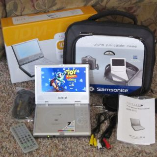 Initial 7 Portable Travel DVD Player w/Accessories & Samsonite Travel