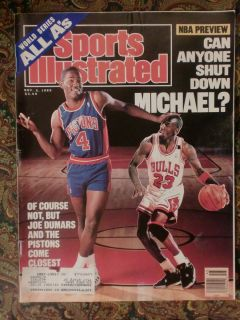 1989 Chicago Bulls Michael Jordan Joe Dumars Sports Illustrated