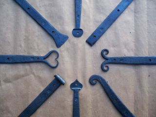 Strap Hinges 5 Sizes with Pintles American Blacksmith Hand Forged