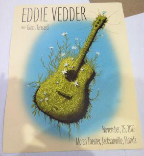EDDIE VEDDER Jacksonville 11 25 poster Jeff Soto L@@K pearl jam not