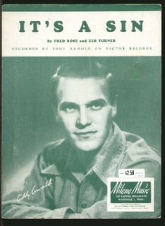 it s a sin 1947 eddy arnold vintage sheet music