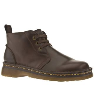 Dr Martens Mens Dark Brown Leather Boots
