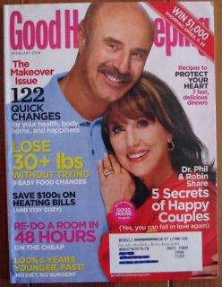 Good Housekeeping Magazine February 2008 Dr Phil Robin