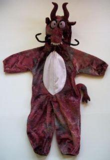 PLUSH CHINESE DRAGON ONE PIECE Halloween COSTUME CHILD 2 3 MULAN