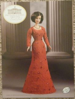 Laura Bush Barbie Fashion Doll Crochet Pattern Annies First Ladies