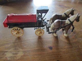 Ertl Dyersville, Iowa die cast 2 horse drawn bank