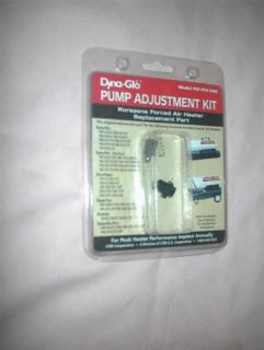 Dyna Glo Pump Adjustment Kit Kerosene Forced Air Heater Replacement
