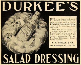 1899 Ad E R Durkee & Company Salad Dressing Meat Sauce   ORIGINAL