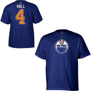 Edmonton Oilers Taylor Hall Blue Name and Number T Shirt