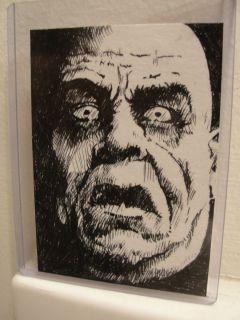 ACEO Original Art Sketch Card TOR JOHNSON Ed Wood horror monsters LOOK