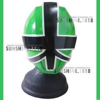 Samurai Green Power Rangers Shinkenger Helmet Mask 1 1