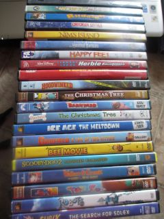 OF 9 FAMILY AND CHILDREN DVDS Dreamworks, Disney, 20th Century Fox