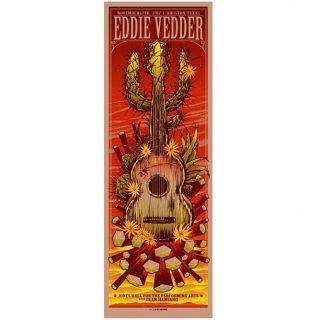 Pearl Jam Eddie Vedder Houston 2012 Official Poster Print Munk One