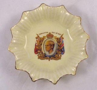 King Edward VIII Coronation Dish with Date May 12 1937