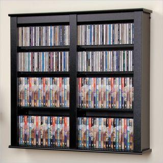 Prepac Double Floating Wall Rack CD DVD Media Storage