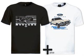 Mustang 2 T Shirt Lot Ford Motor Car Engine Driver