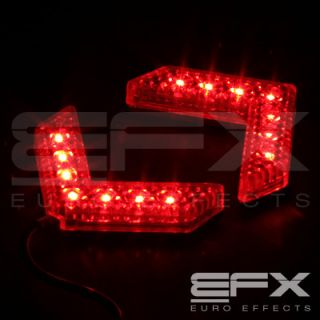 EFX 2pc RED 7 LED SIDE MIRROR TURNING SIGNAL ARROW LIGHTS HARLEY