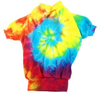 New Tie Dye Dog Shirt Cute Hippie Pet Clothes Apparel USA XS 2XL 3XL