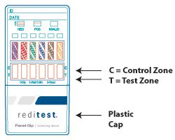 10 Panel DIP Drug Testing Test Kit Substance Abuse Screening Device