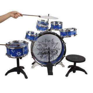 11 pcs kids drum set musical instrument toy features 1 new