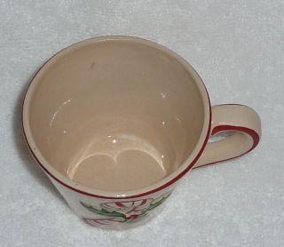 Candy Cane Christmas Xmas Holly Eggnog Cocoa Coffee Tea Mug Cup