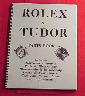 Vintage Roy Ehrhardt Rolex Tudor Parts Manual 252 pages black white
