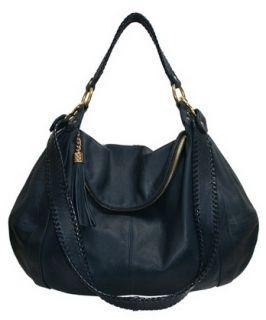 ONNA EHRLICH Rachel Hobo Navy Italian Leather w/Tassel Retail $650 NWT