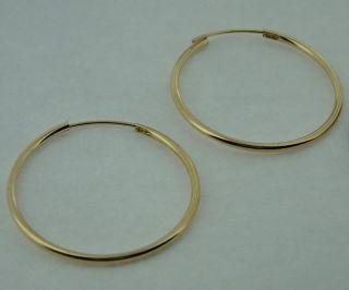 715 14k yellow gold hoop earrings brand new ear rings big