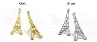 Fashion Women Ladies Vintage Eiffel Tower Stud Earrings 2 Colors