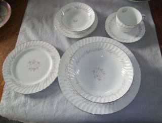 SHEFFIELD FINE CHINA OF JAPAN ANGELIQUE DINNER DESSERT PLATE/ BOWL 7
