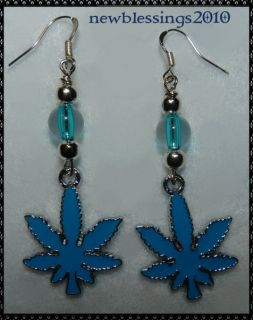 Blueberry Bud Earrings Hypoallergenic Weed Cannabis Marijuana Gaunga