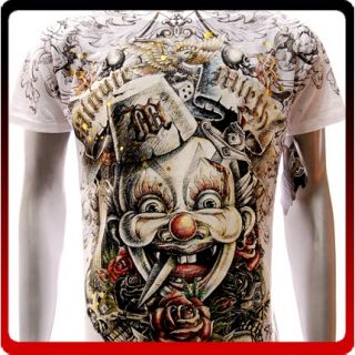 M55G Minute Mirth M L XL T Shirt Tattoo Street Joker Skull Baby Demon