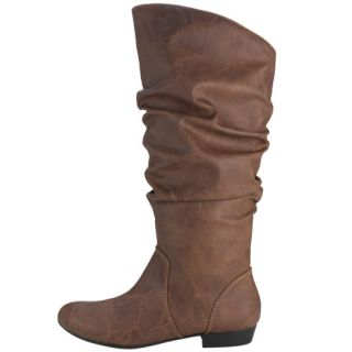 Lower East Side Ladies Brown Knee High Slouch Boots Size 13 Wide