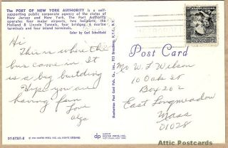 NY Port Authority Bus Terminal New York 1964 Postcard