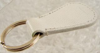 DOONEY & BOURKE Duck Logo Key Ring Key Fob Leather   White #40