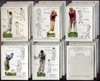 Tobacco Card Set John Player Sons Golf How to Play Strokes 1939