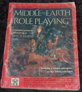 RARE Vintage J R R Tolkien Middle Earth Role Playing D D D20 RPG Ad D